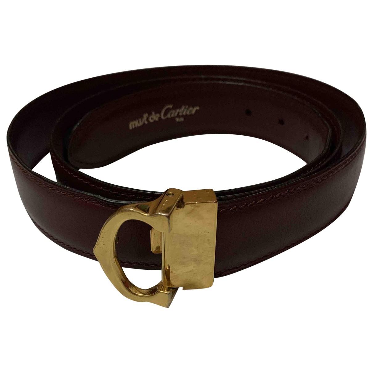 Cartier \N Brown Leather belt for Men 90 cm