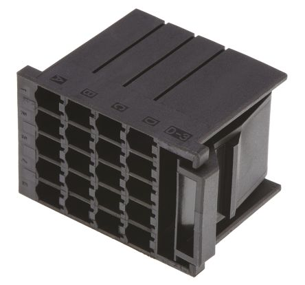 TE Connectivity , Dynamic 3000 Female Connector Housing, 5.08mm Pitch, 20 Way, 4 Row (5)
