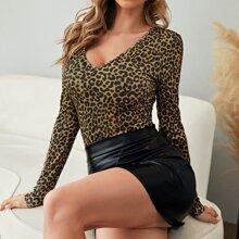 Camisetas Canale Leopardo Elegante