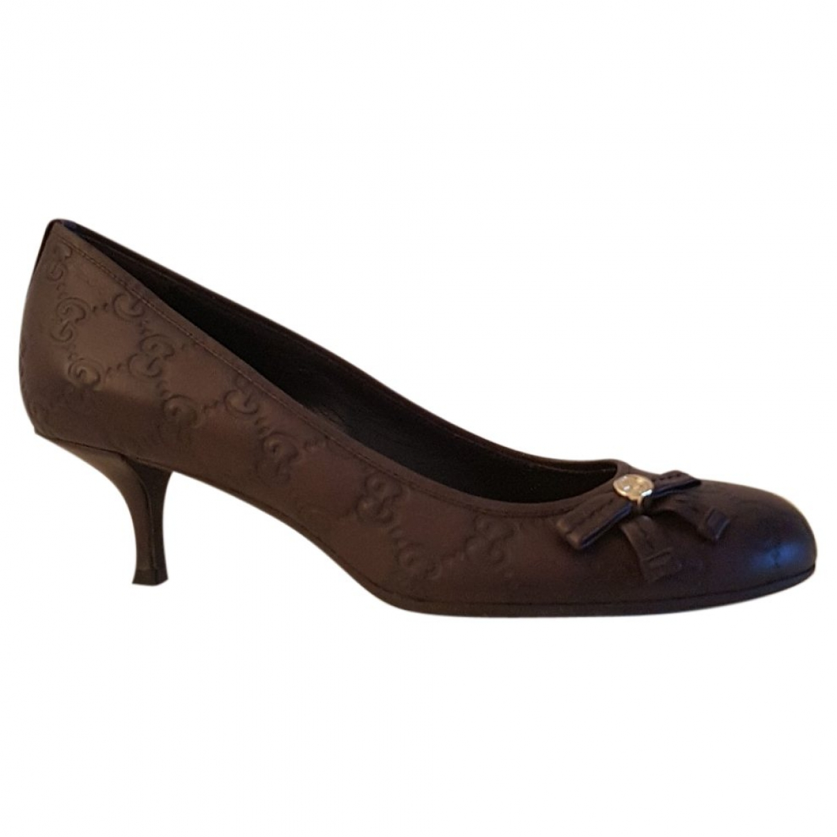 Gucci \N Brown Leather Heels for Women 38 EU