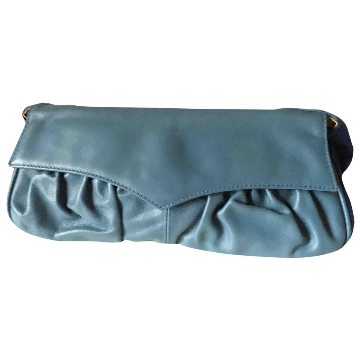 Max & Co - Pochette   pour femme en cuir - bleu