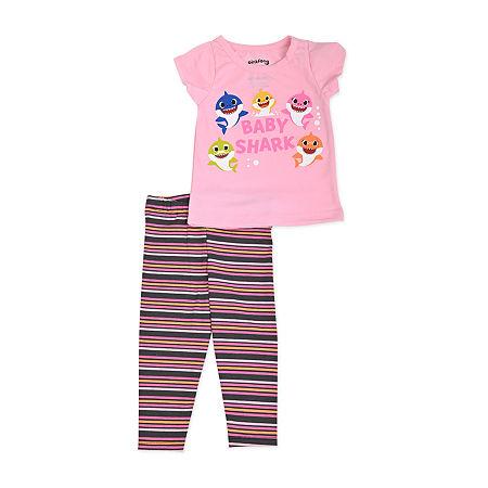 Nickelodeon Baby Girls Baby Shark 2-pc. Pant Set, 18 Months , Pink