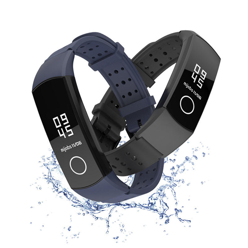 Mijobs Silicone Wrist Strap Waterproof Watch Band for Huawei Honor Band 4 Smart Watch