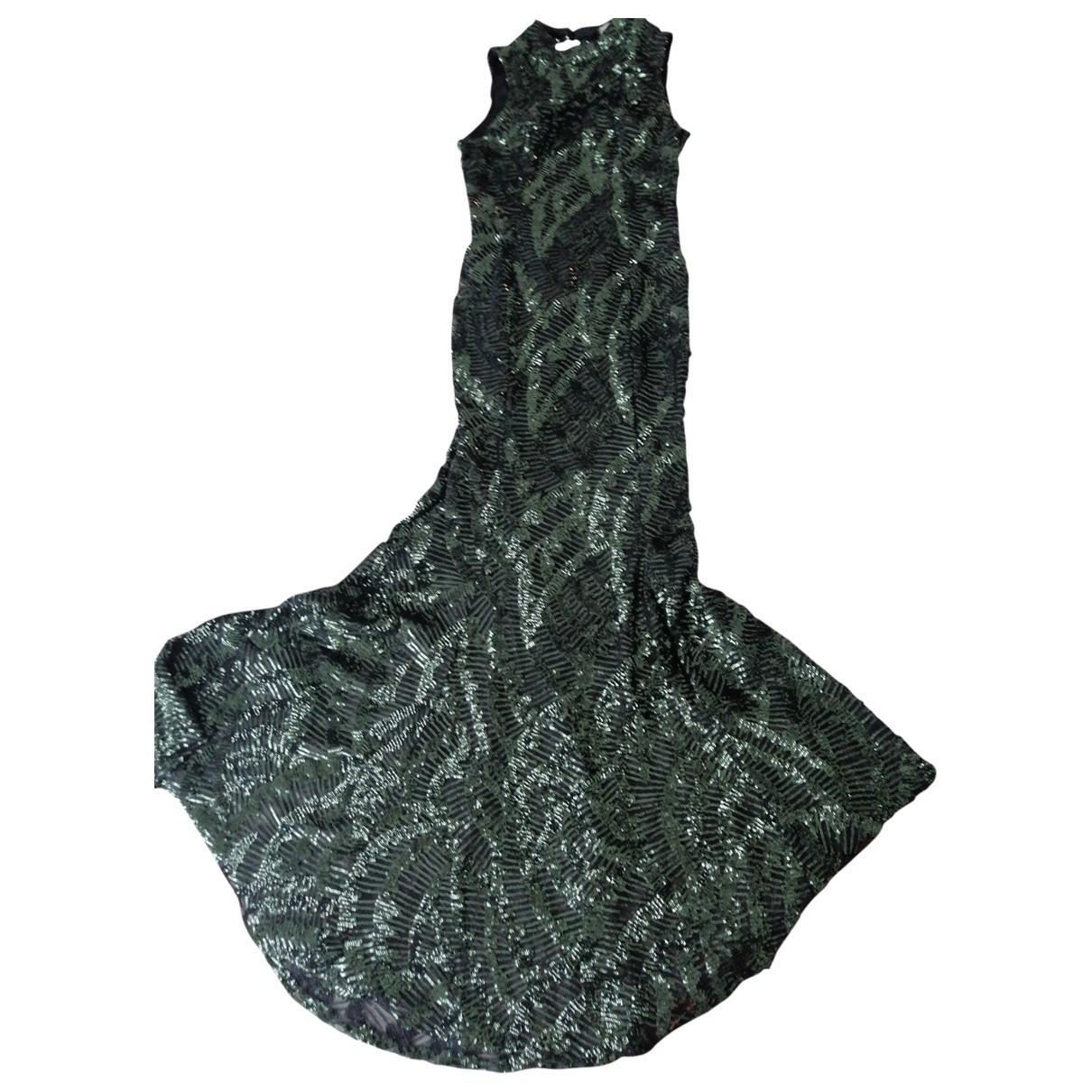 Amen Italy \N Kleid in  Gruen Mit Pailletten
