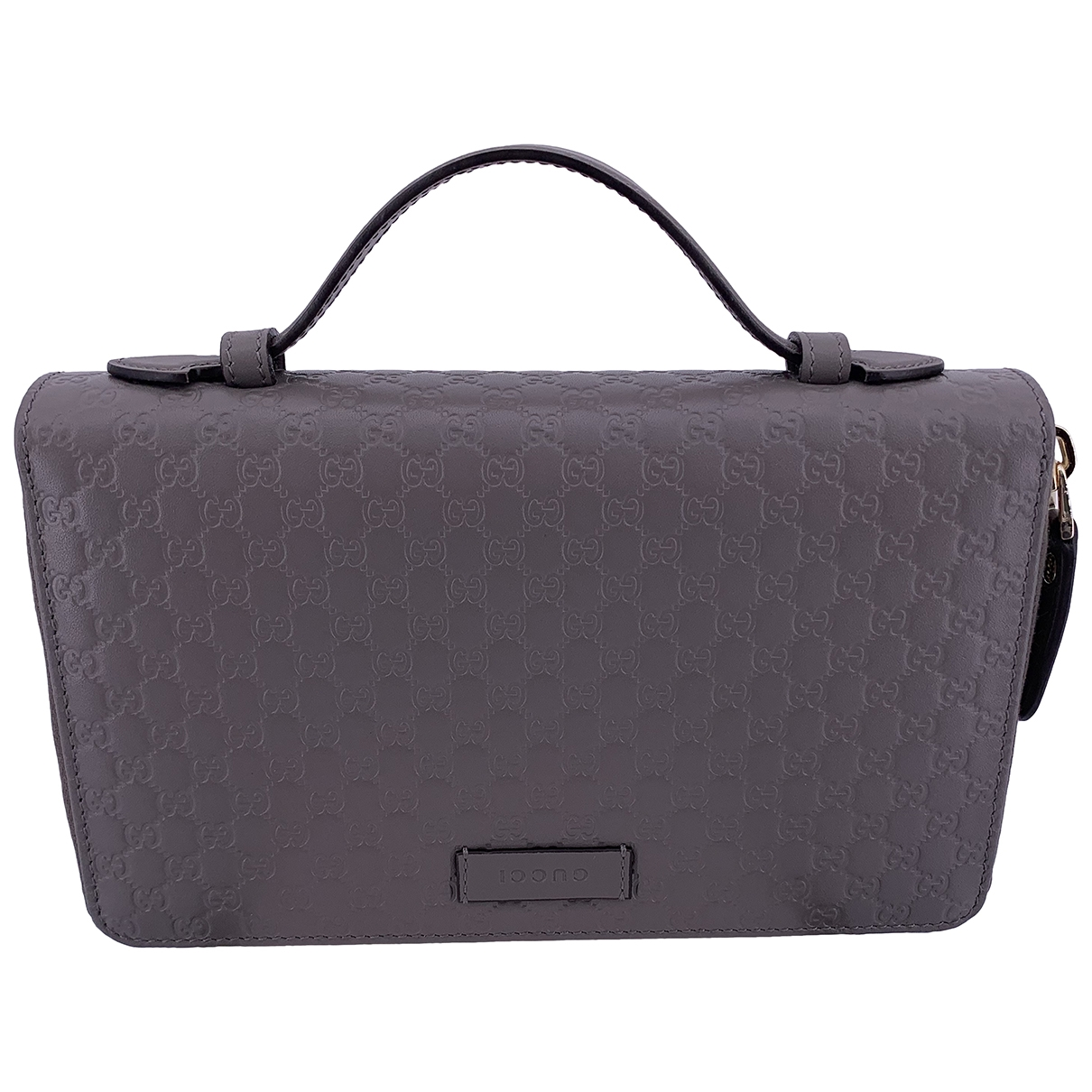 Gucci \N Grey Leather Clutch bag for Women \N
