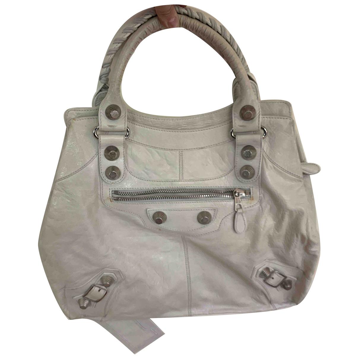 Balenciaga Vélo White Leather handbag for Women \N