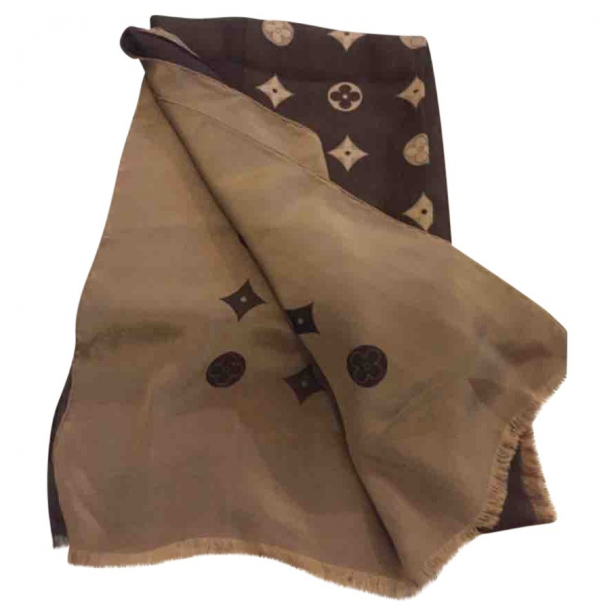 Louis Vuitton \N Brown Silk scarf for Women \N