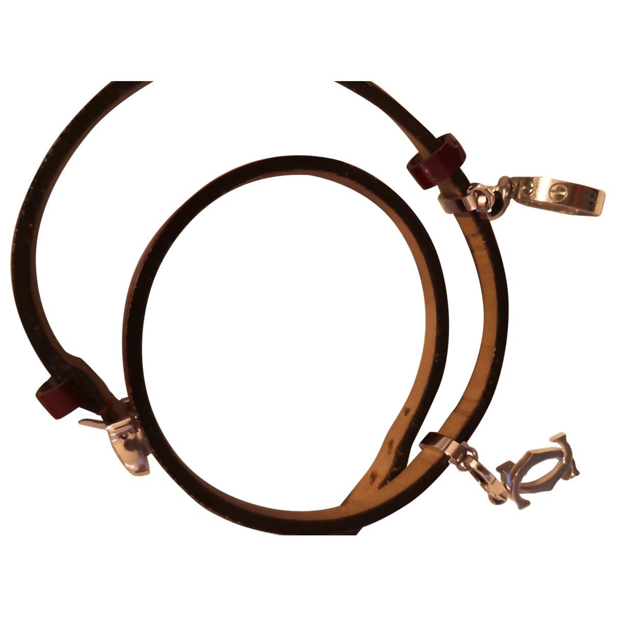 Cartier \N Armband in  Bordeauxrot Leder