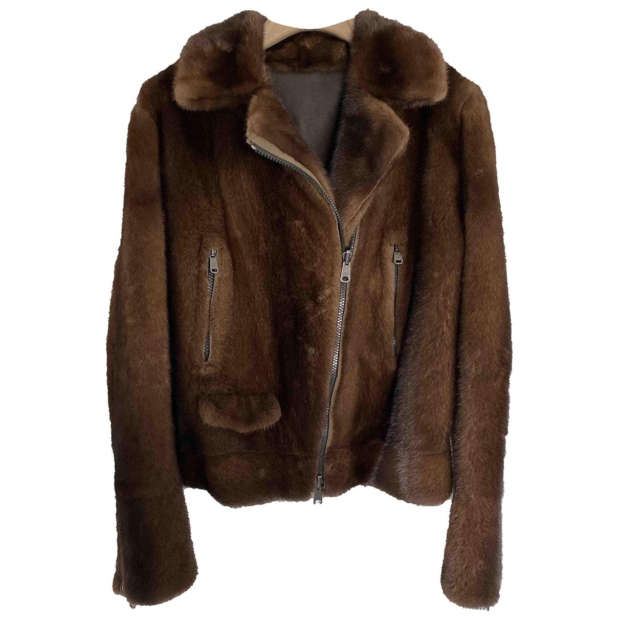 Brunello Cucinelli \N Brown Mink jacket for Women 40 IT