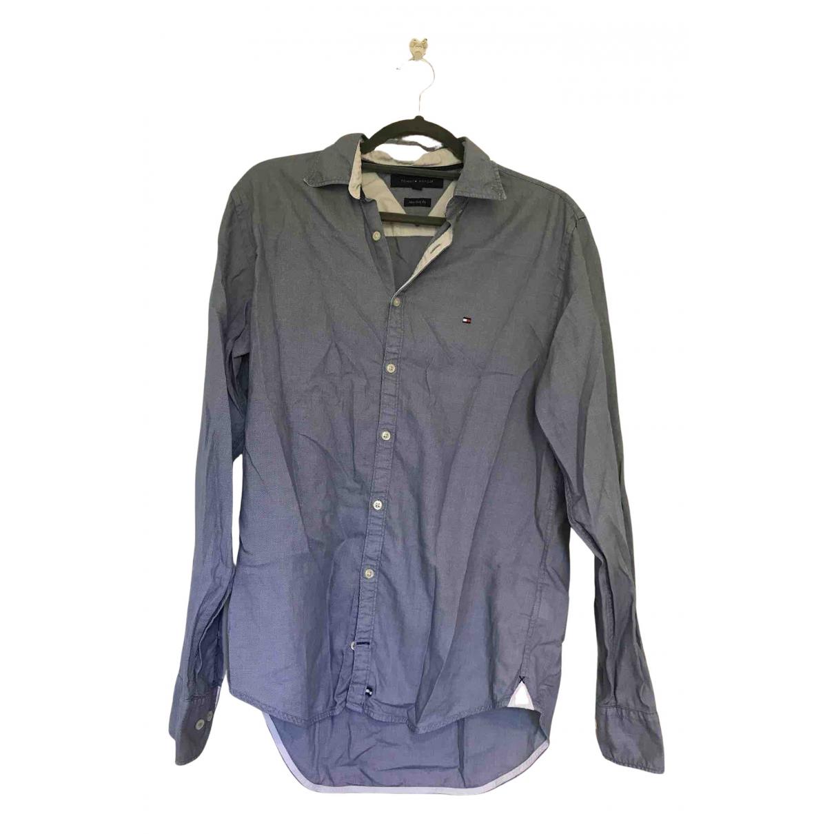 Tommy Hilfiger N Blue Cotton Shirts for Men S International