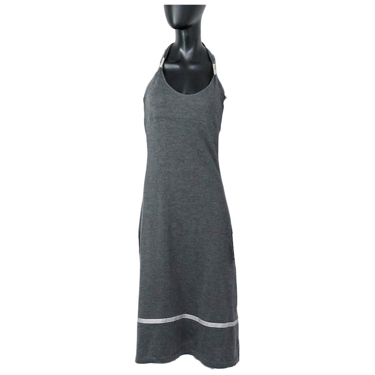 Brunello Cucinelli - Robe   pour femme en coton - gris