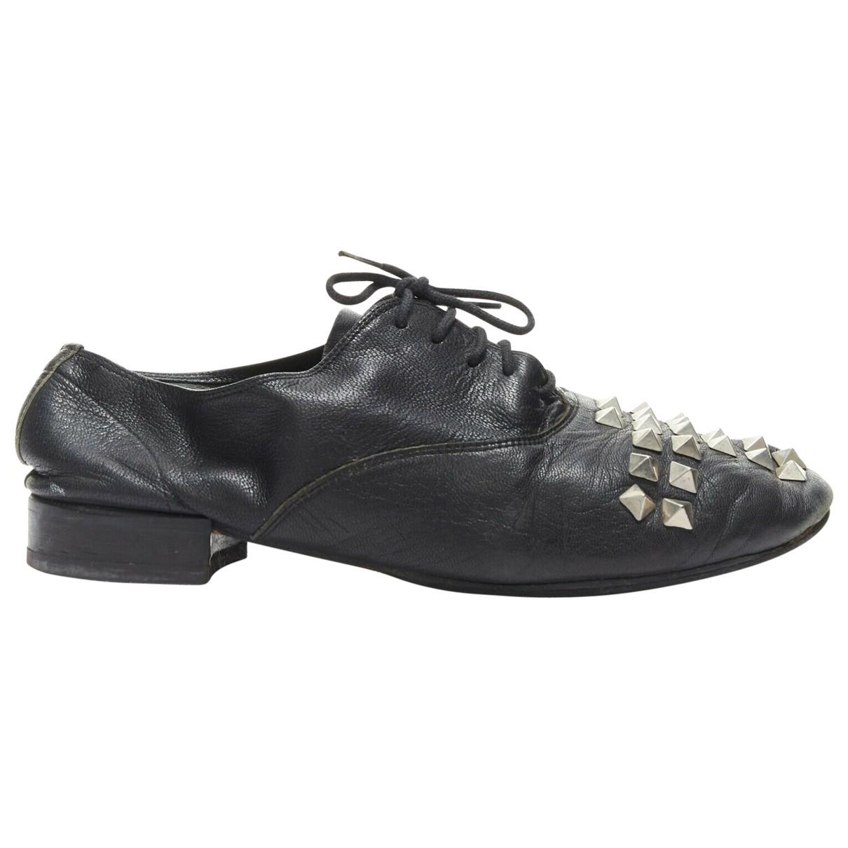 Comme Des Garcons \N Black Leather Lace ups for Women 37 EU