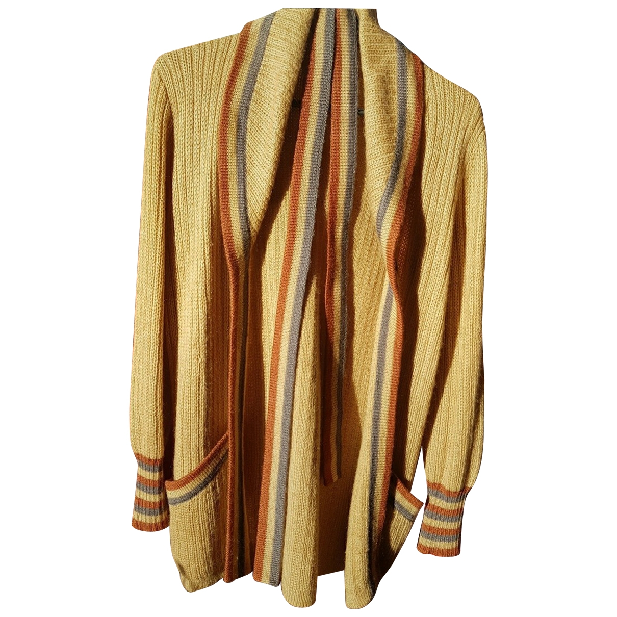 Yves Saint Laurent - Pull   pour femme en laine - marron