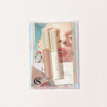 SHEGLAM set 1 pieza brillo de labios con 1 pieza rimel con 1 pieza carta