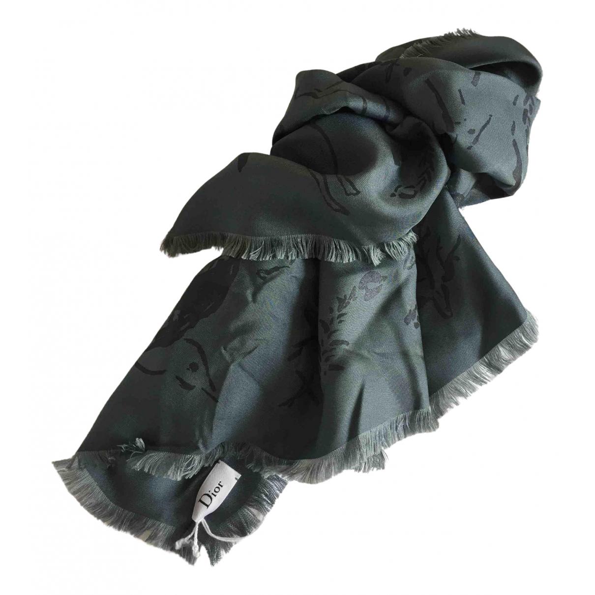 Dior - Carre   pour femme en soie - gris