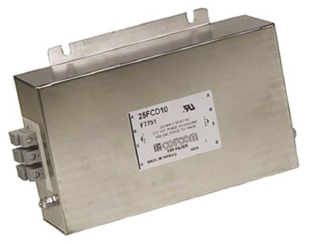 TE Connectivity EMI Filter - 246.1mm Length, 25 A, 480 V ac