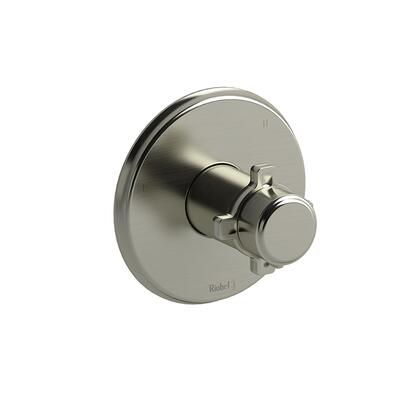 Momenti TMMRD47XBN 3-Way No Share Thermostatic/Pressure Balance Coaxial Valve Trim with x Cross Handles  in Brushed