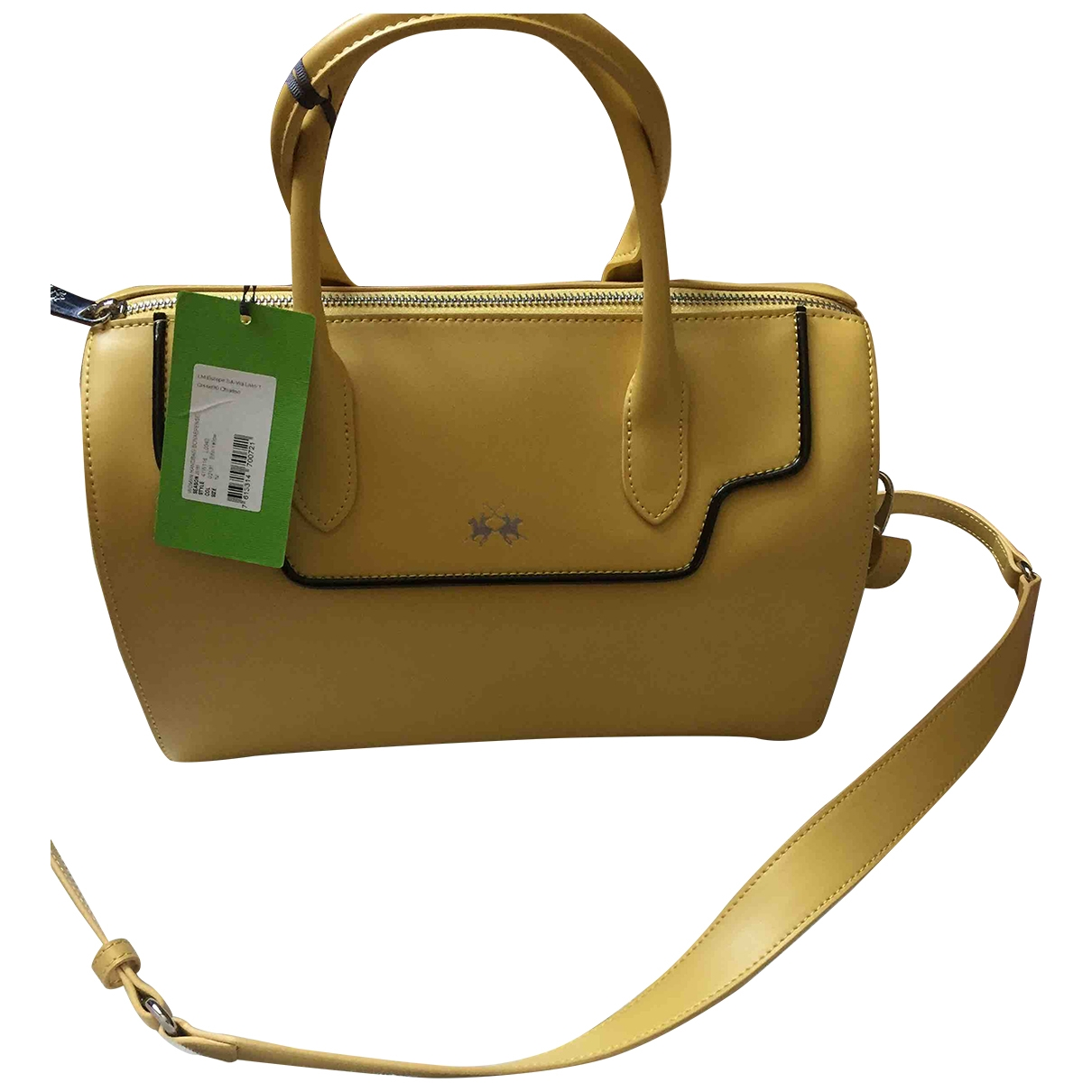Non Signé / Unsigned \N Yellow Leather handbag for Women \N