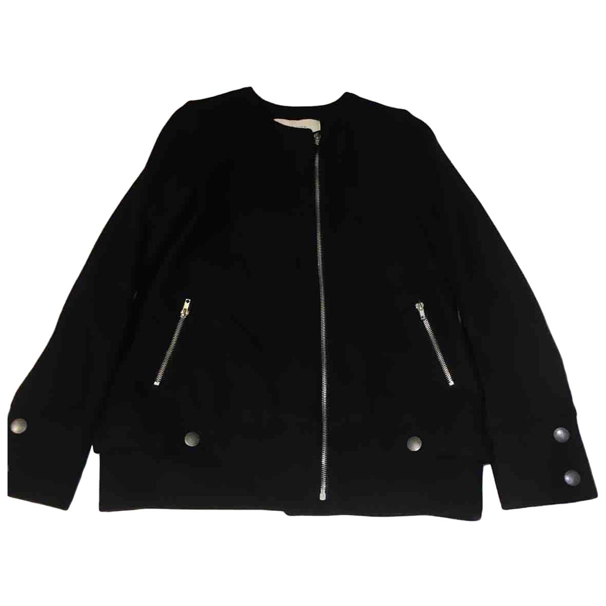 Sessun - Veste   pour femme en laine - noir