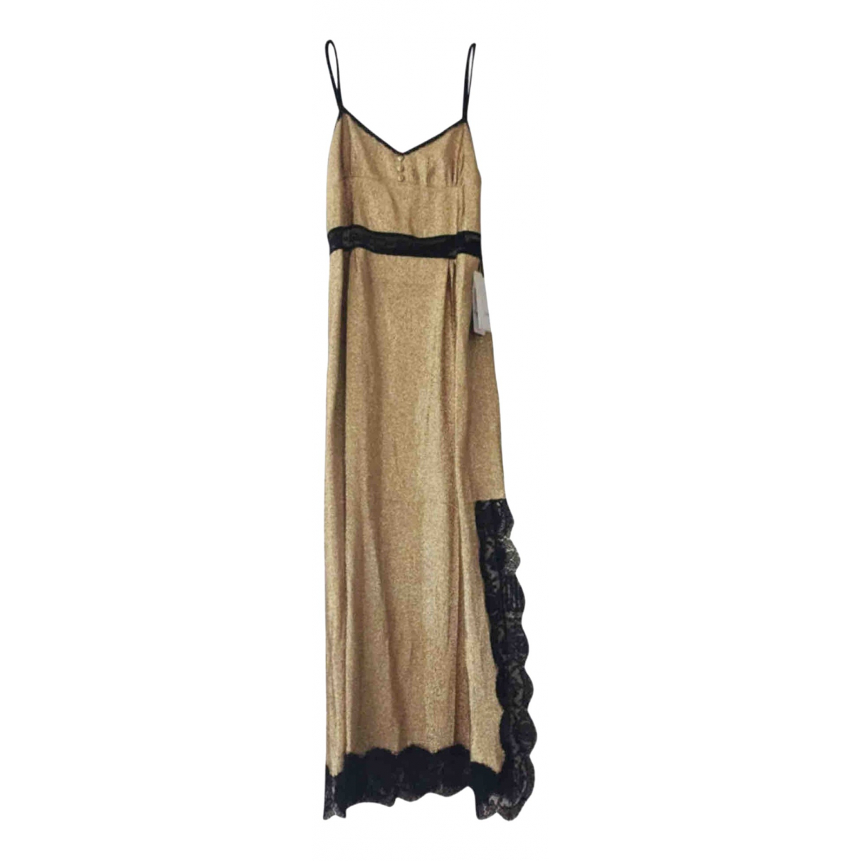 Gucci \N Kleid in  Gold Seide