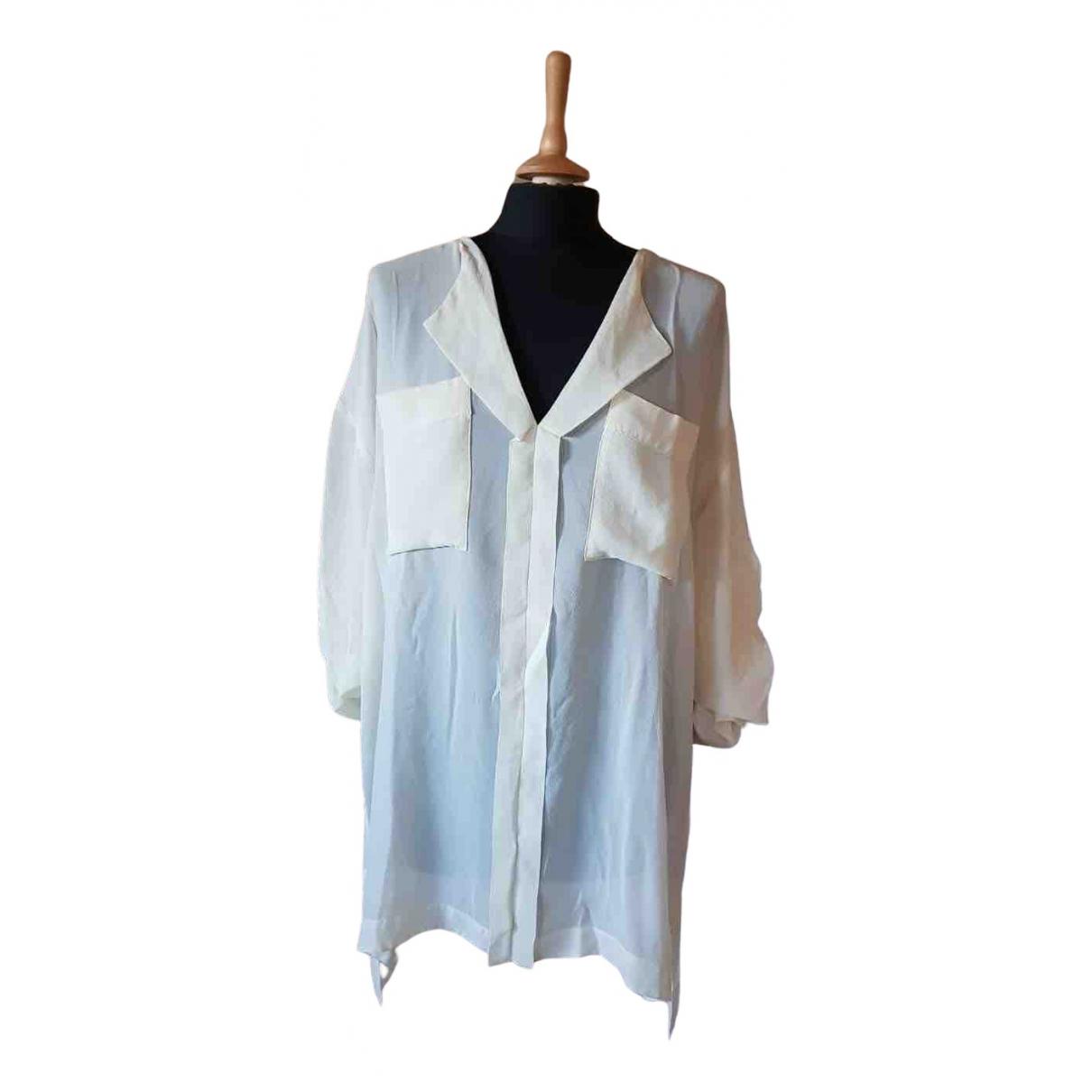 Attic And Barn - Chemises   pour homme en soie - blanc