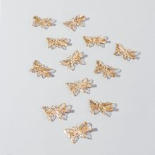 12pcs Metal Butterfly Design Hair Clip