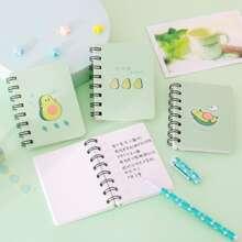 1pack Cartoon Avocado Spiral Notebook