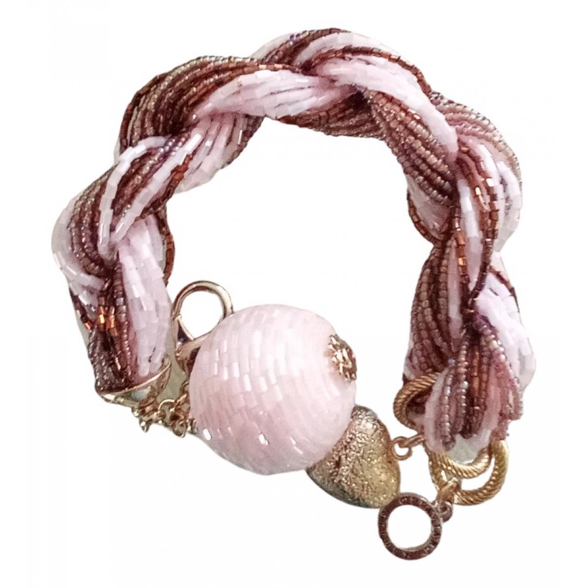 - Bracelet Motifs Coeurs pour femme en metal - rose
