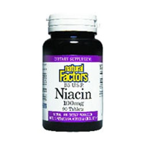 Vitamin B3 Niacin 90 Tabs by Natural Factors