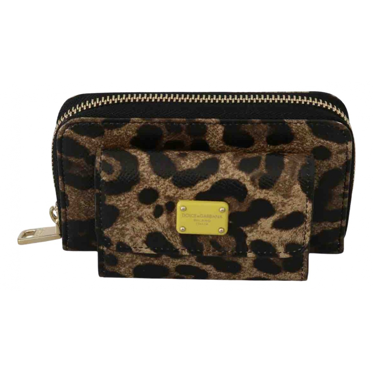 Dolce & Gabbana \N Portemonnaie in  Braun Leder