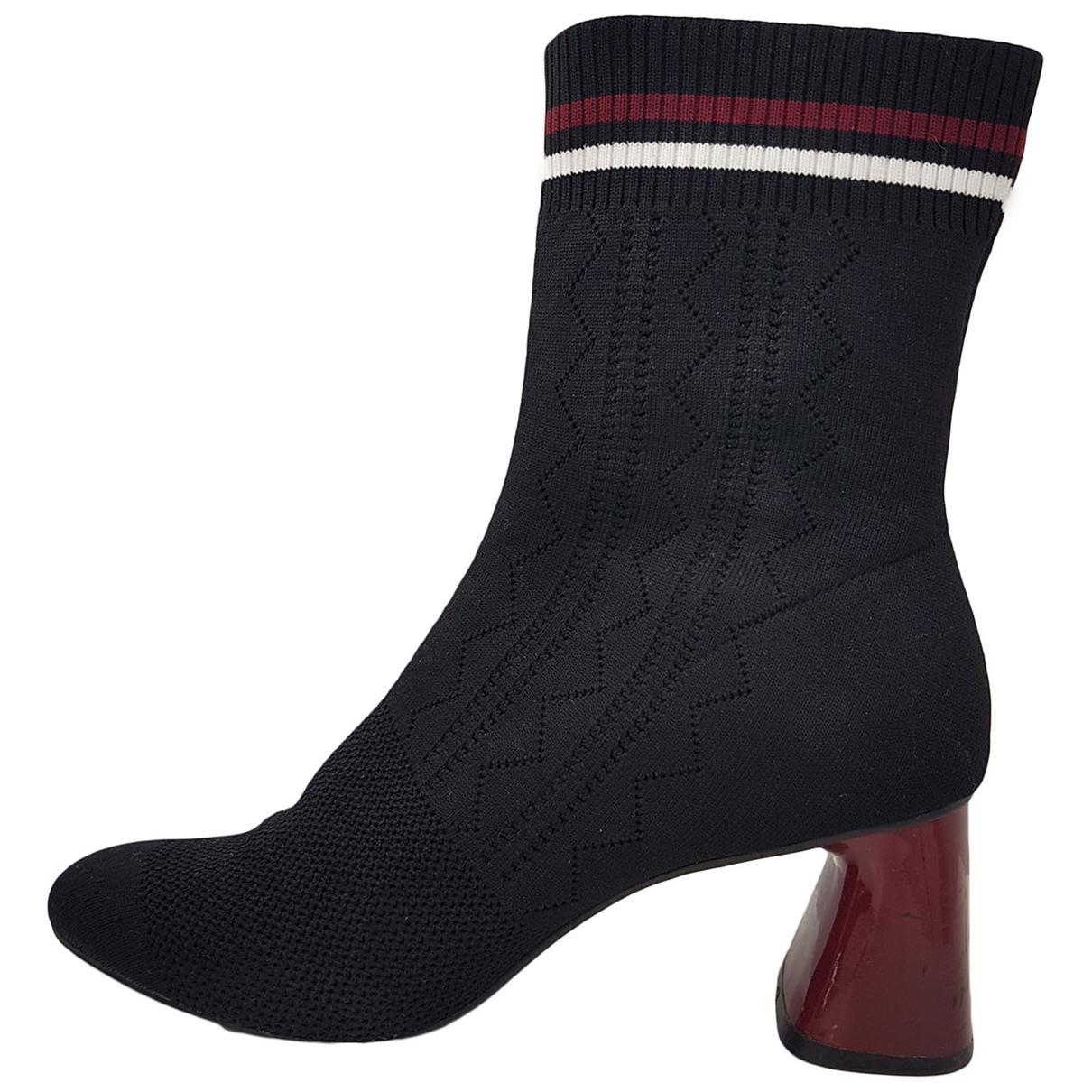 Autre Marque - Boots   pour femme en toile - noir