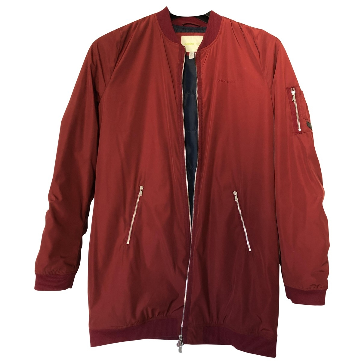 Adidas \N Jacke in  Bordeauxrot Polyester