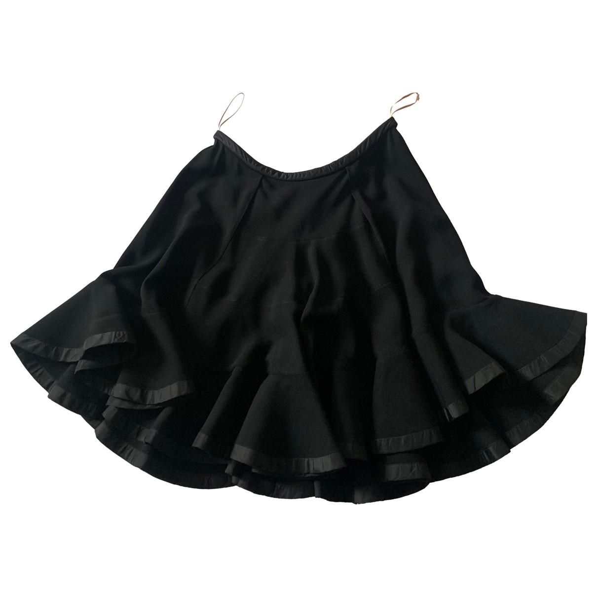 Chloe - Jupe   pour femme en soie - noir