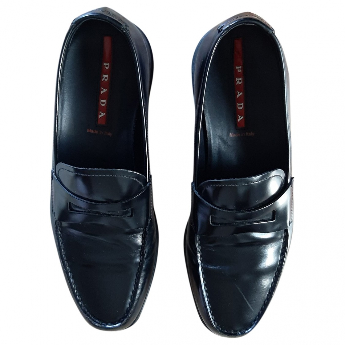 Prada \N Black Leather Flats for Men 6 UK