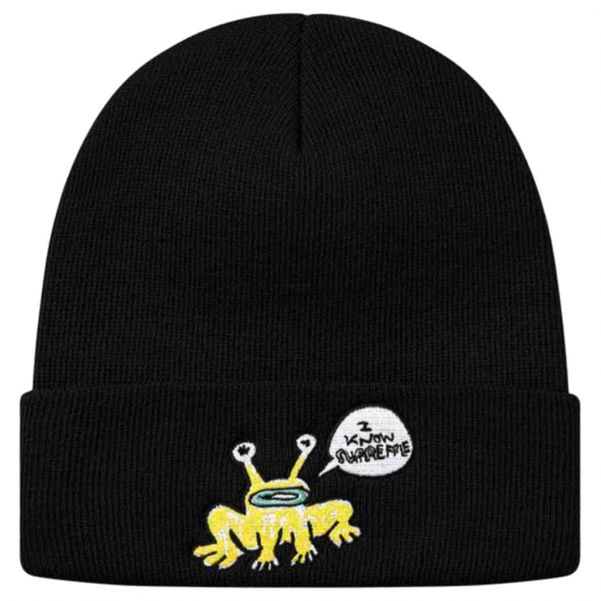 Supreme - Chapeau & Bonnets   pour homme - noir