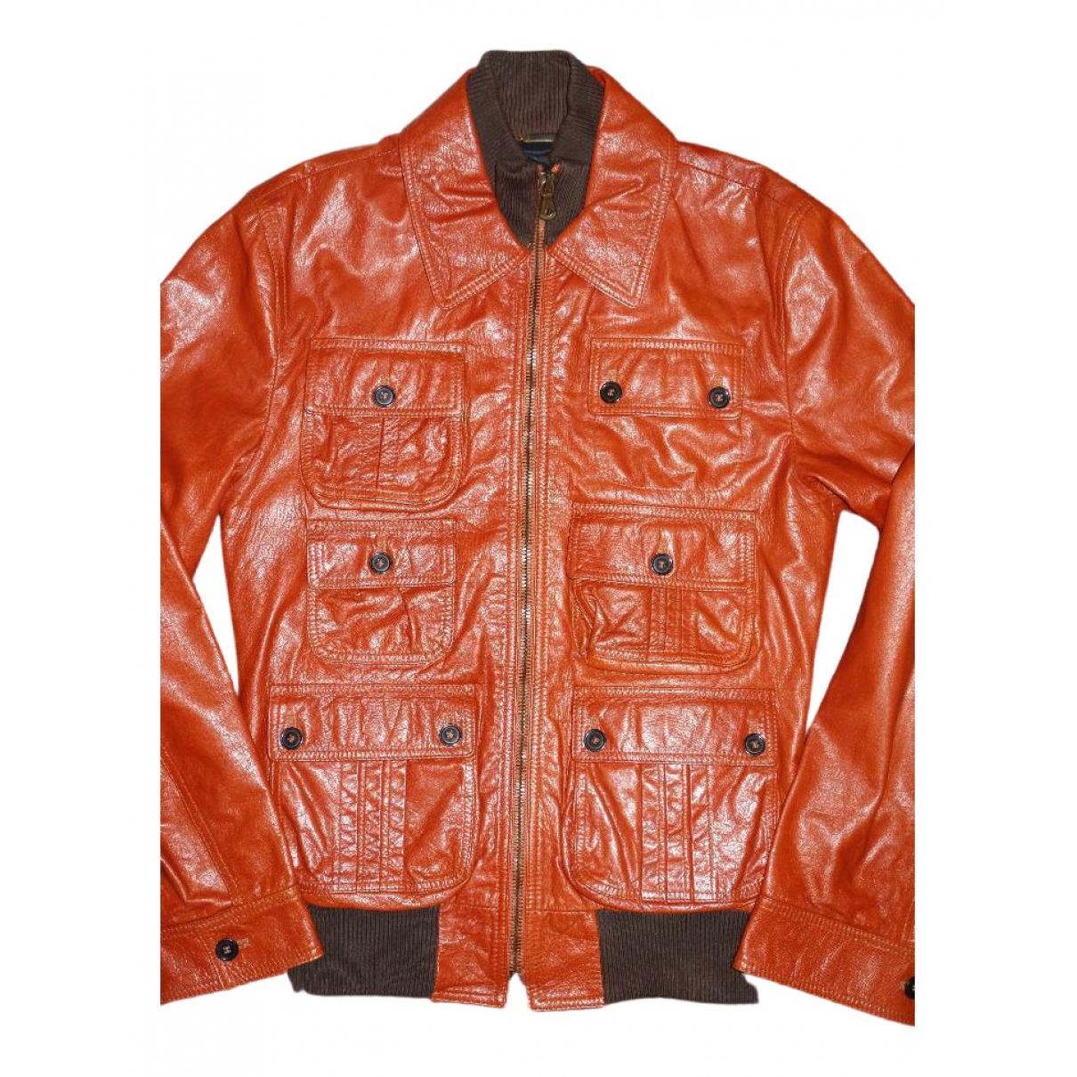 Dolce & Gabbana N Orange Leather jacket  for Men 48 IT
