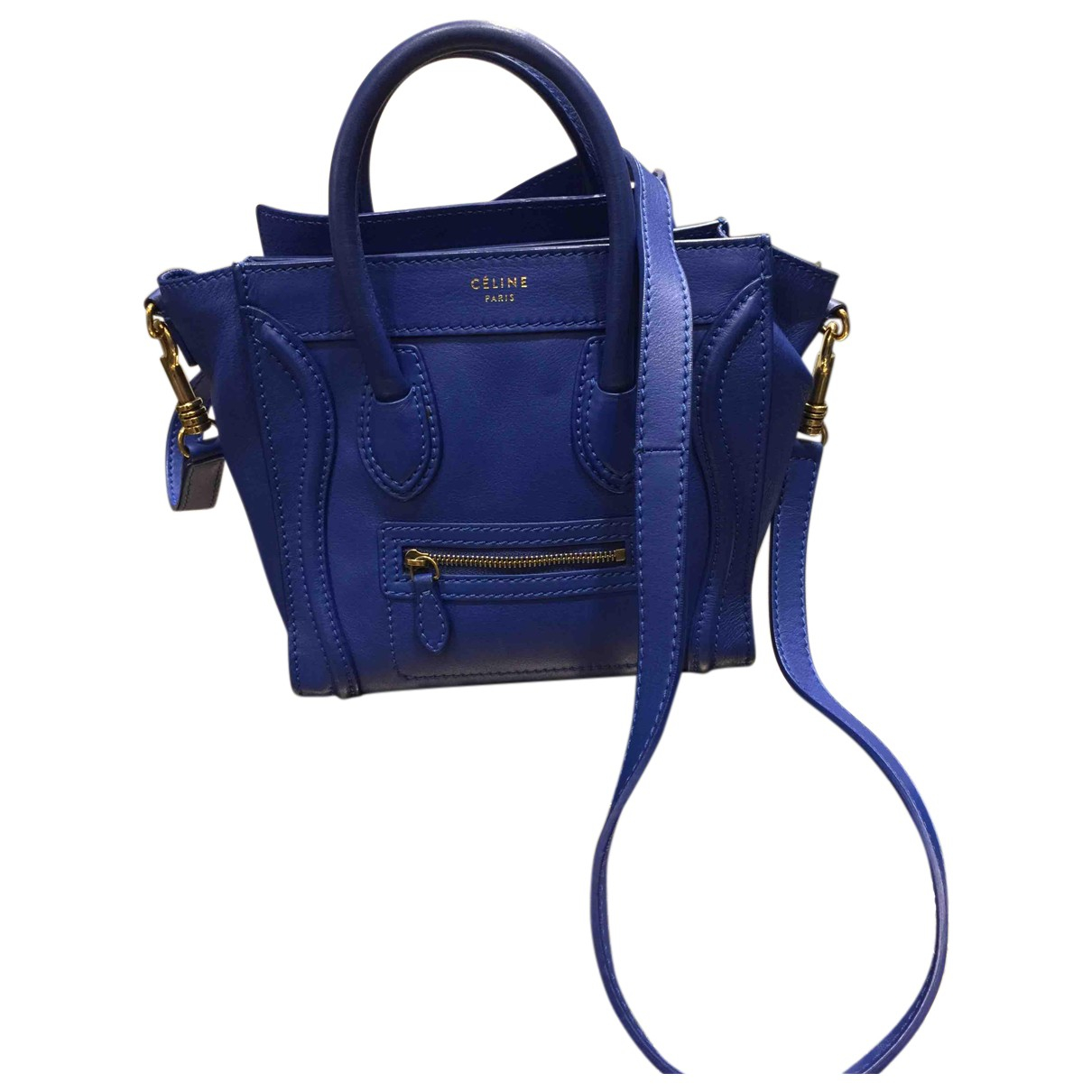 Celine Luggage Blue Leather handbag for Women N