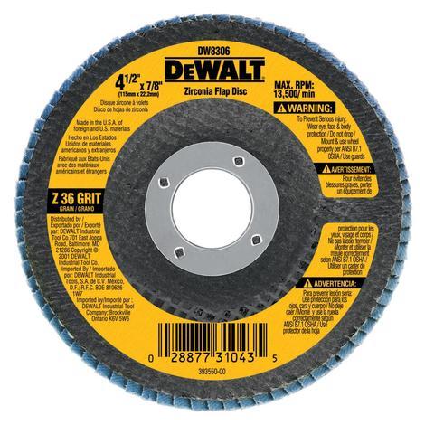 DeWalt 5 In. x 7/8 In. 80 g Zinc Flap Disc