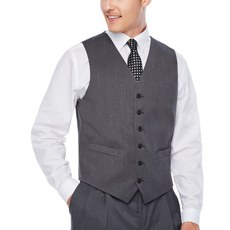 Stafford Travel Wool Blend Stretch Classic Fit Suit Vest, X-large , Gray