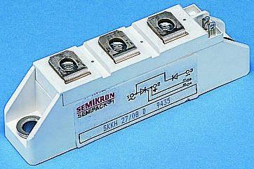 Semikron , SKKH 106/12 E, Diode/Thyristor Module SCR SCR, 106A 1200V, 5-Pin Semipack1