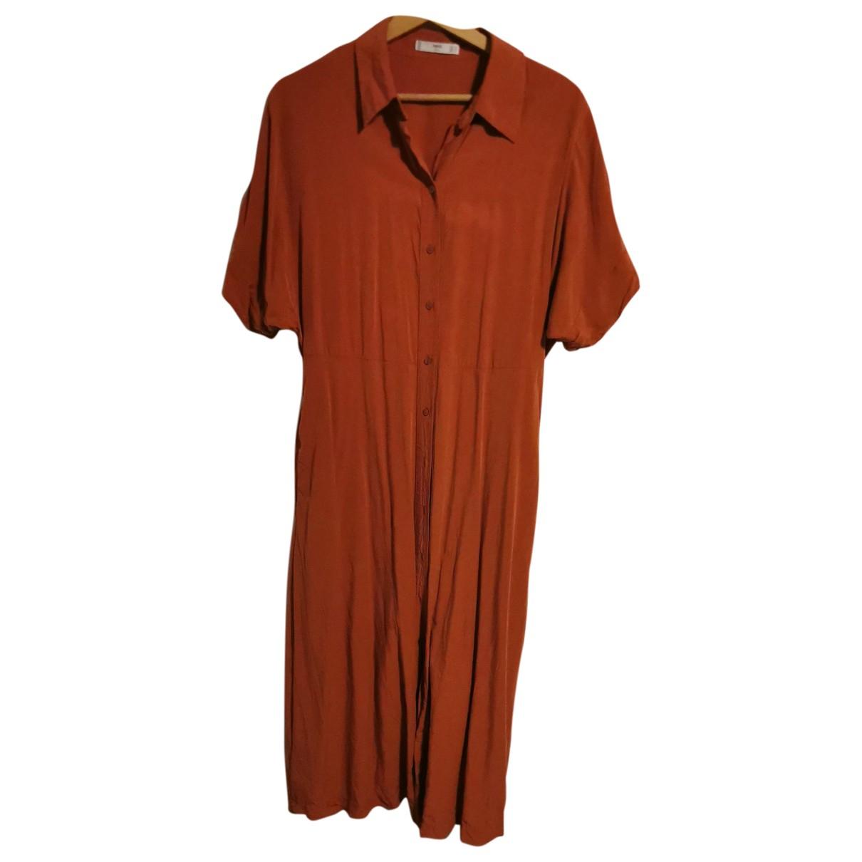 Mango - Robe   pour femme - orange