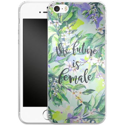 Apple iPhone SE Silikon Handyhuelle - The Future is Female von Stephanie Breeze