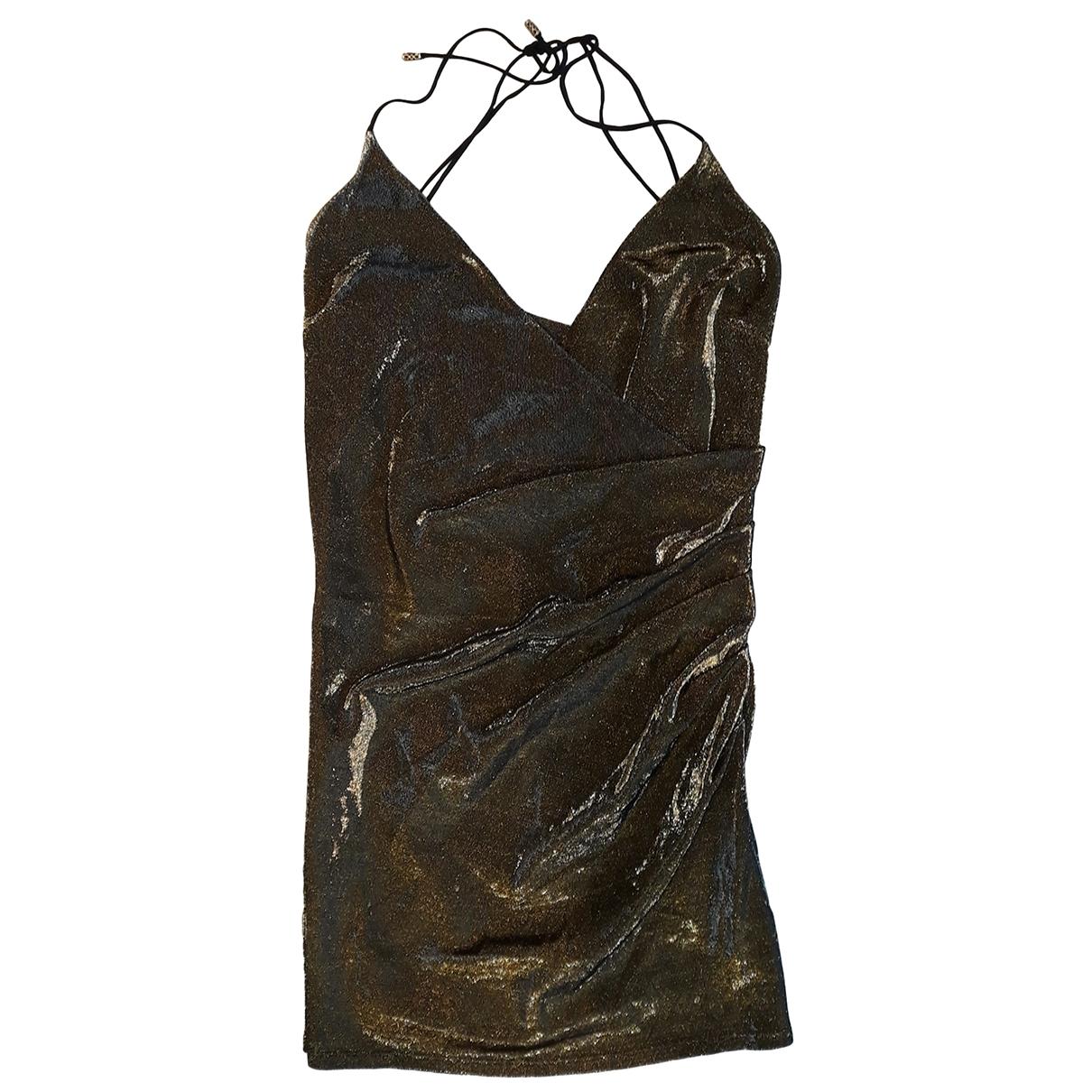 Patrizia Pepe \N Kleid in  Gold Baumwolle