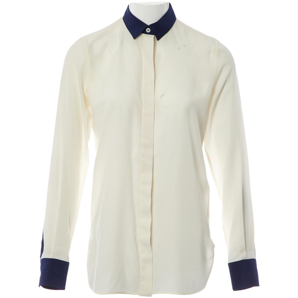 Celine - Top   pour femme en soie - blanc
