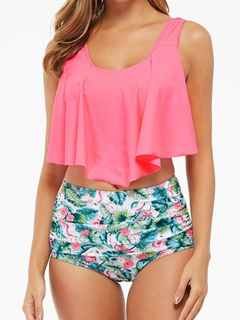 Ericdress Sweet Print Tankini Set Swimwear