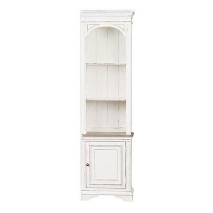 Magnolia Manor Collection 244-ER00 Right Pier with LED Touch Lighting  Wire Management Provisions and Planked Back Panel in Antique White