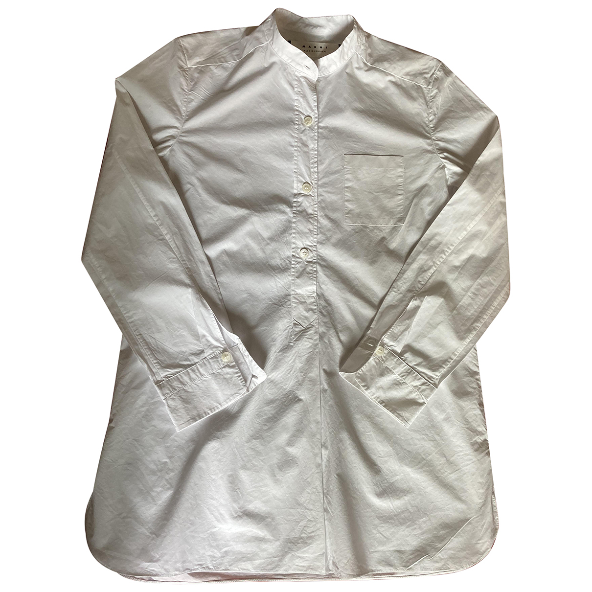 Marni - Top   pour femme en coton - blanc
