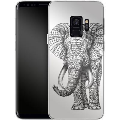 Samsung Galaxy S9 Silikon Handyhuelle - Ornate Elephant von BIOWORKZ