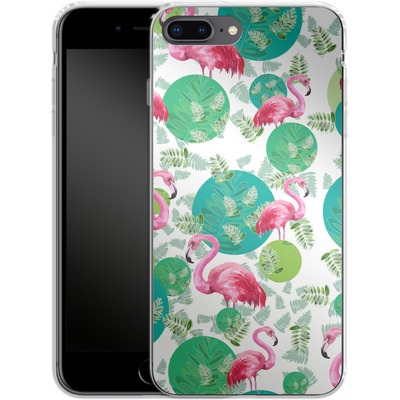 Apple iPhone 7 Plus Silikon Handyhuelle - Flamingo Land von Mukta Lata Barua