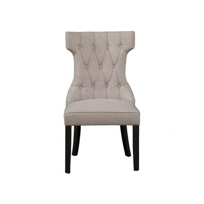 BM171969 Upholstered Button Tufted Side Chairs With Wooden Base Set Of 2